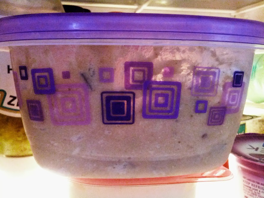 Romance author Wendy Sparrow who is an aficionado of cookie dough carefully pushes the chips away from sides of the container so it just looks like leftover mashed potatoes, keeping it safe from others in the house.